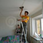 Шпатлевка шва на потолке